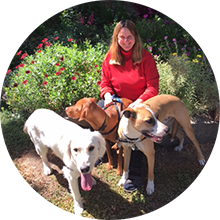 Rebecca with dogs